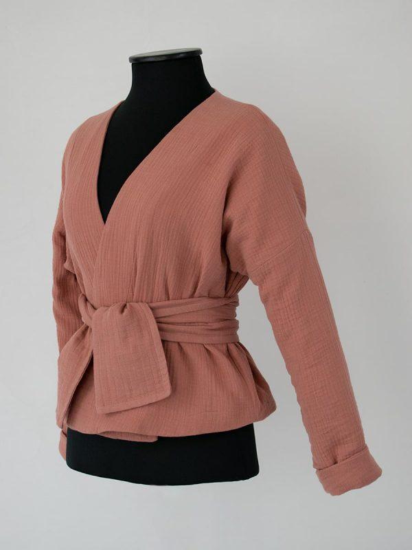 Patron veste Kimono bOrnéo ceinture Anne bO