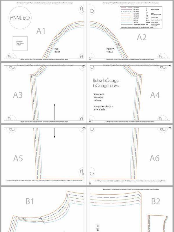 Patron de couture pdf facile à assembler